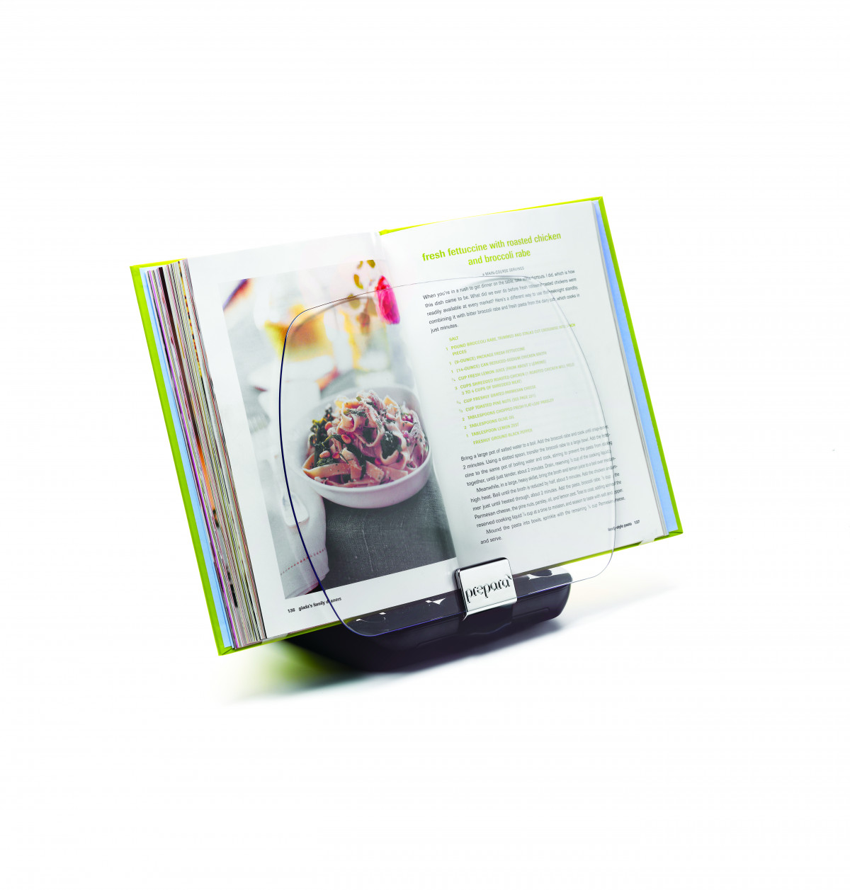 lutrin de cuisine rotatif pliable - noir - n2j