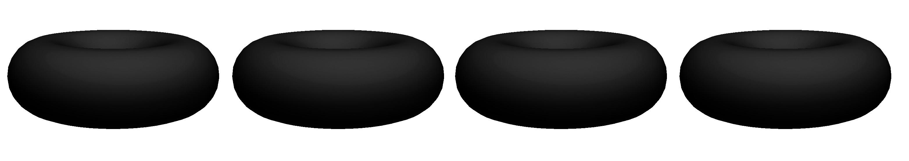 Boite de 4  dessous de plats modulables Jacks Donuts - Noir