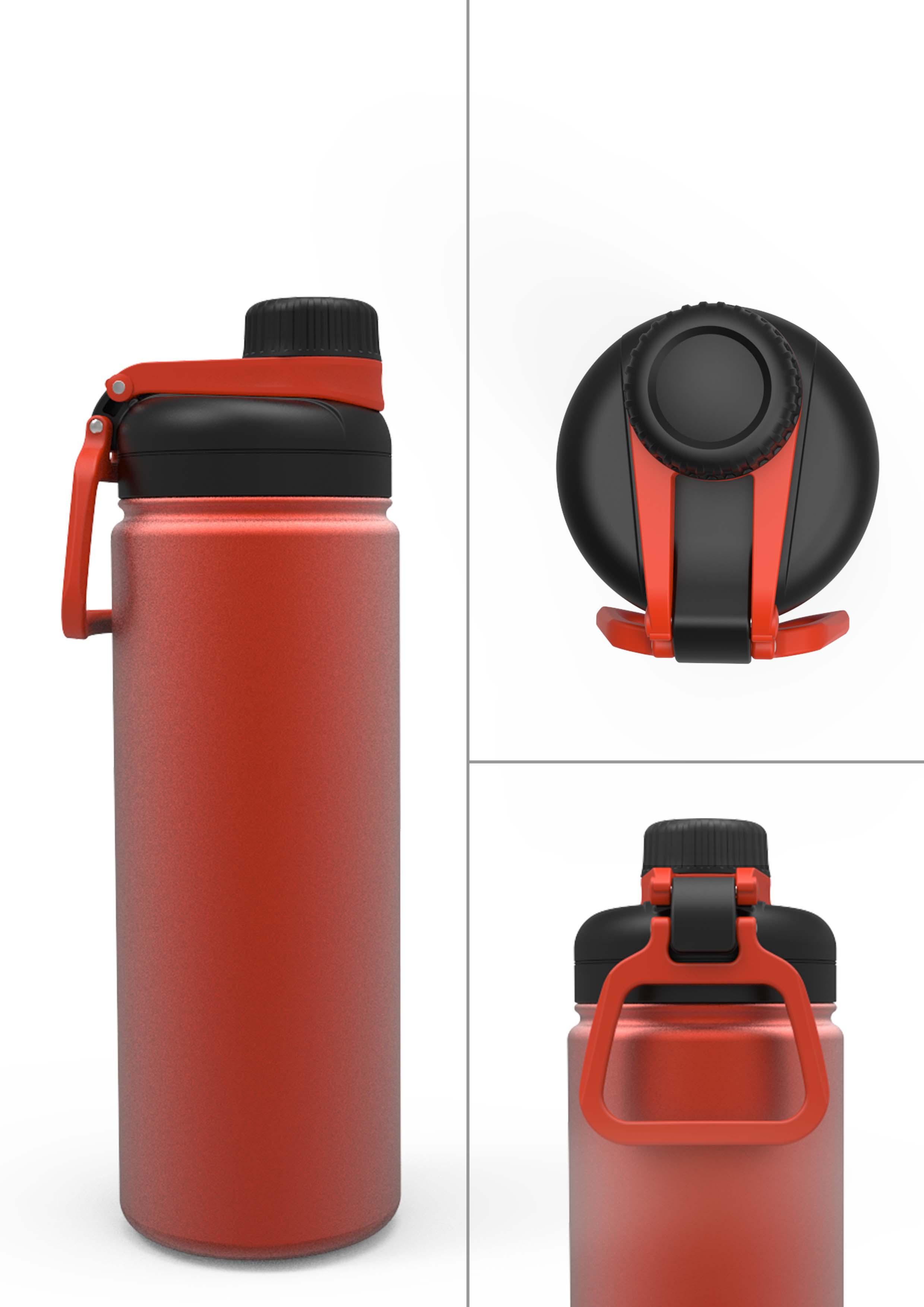 CAMPER - Mug isotherme double paroi - Rouge/Noir