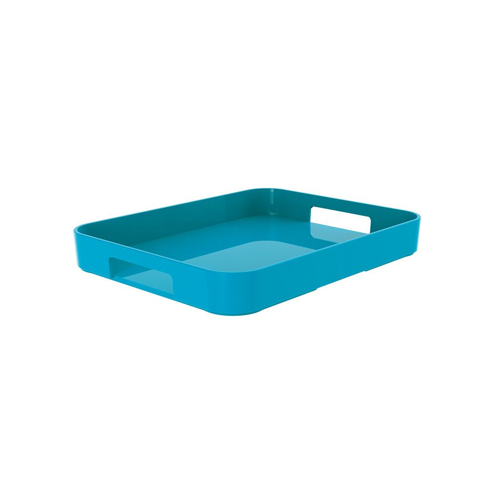 GALLERY - Plateau rectangulaire M - bleu aqua