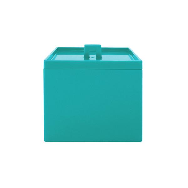Boîte empilable opaque S - Bleu aqua