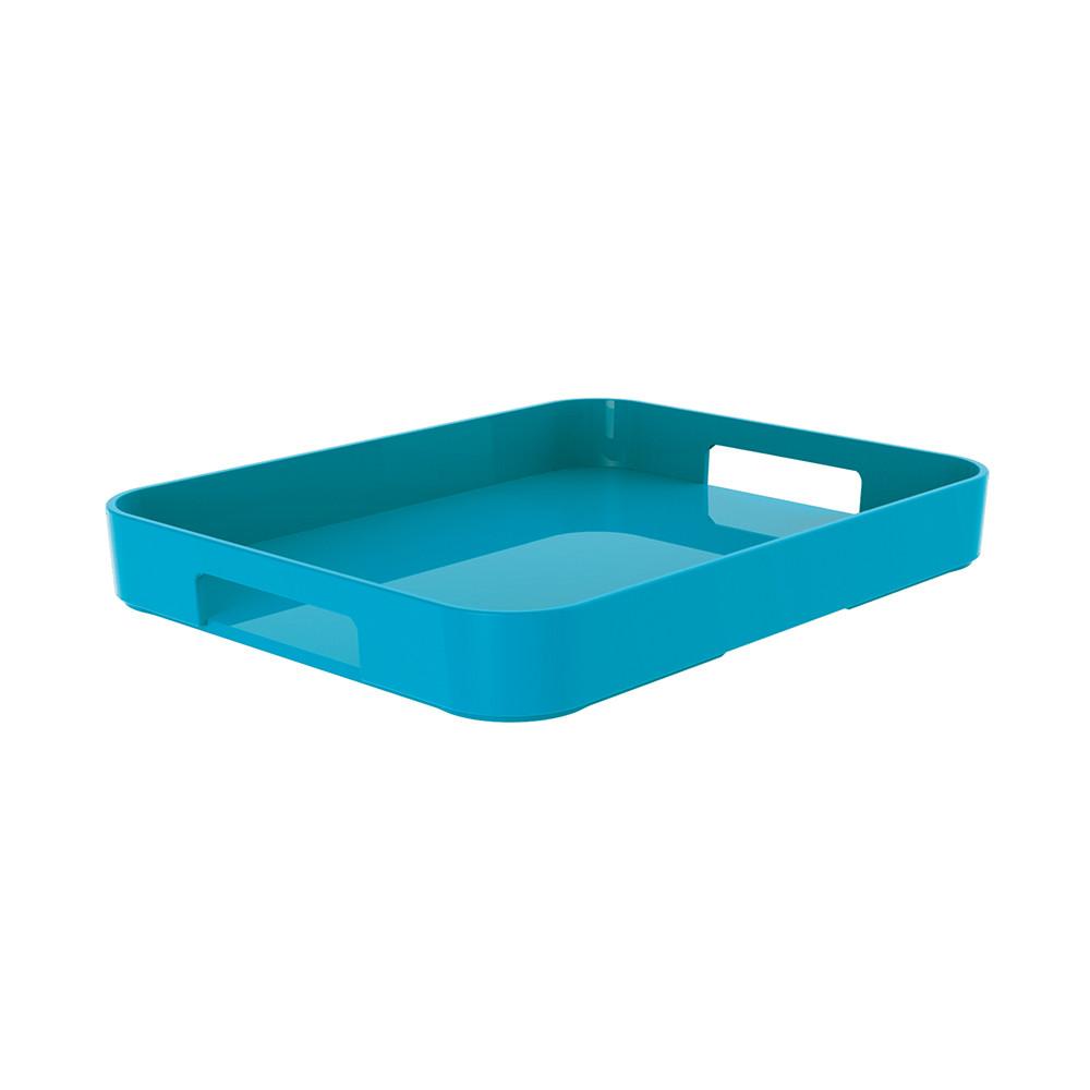 GALLERY - Plateau rectangulaire L - bleu aqua