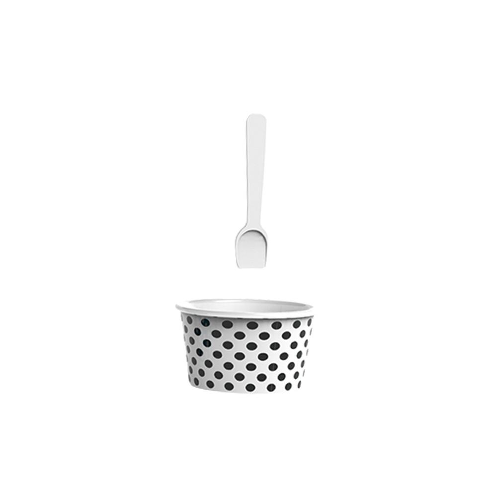 ICE CREAM - Set bol & cuillère à glace - noir/blanc