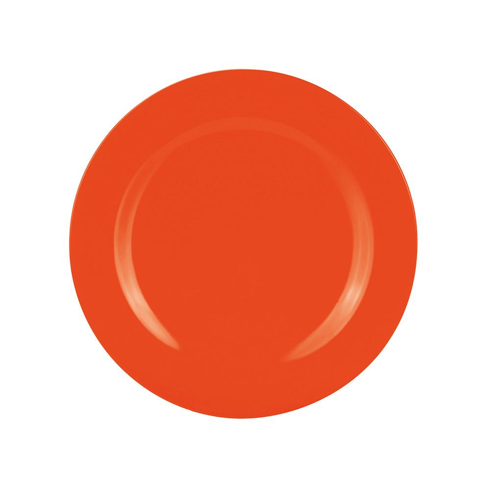 BBQ - Assiette plate 24 cm - corail