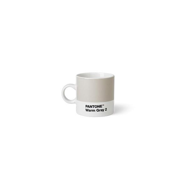 Tasse à expresso en porcelaine - Gris chaud 2 C