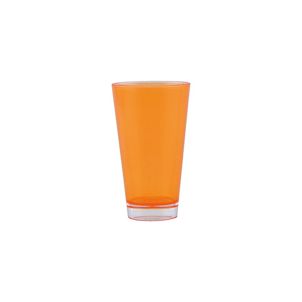 BBQ - Verre teinté double paroi 30 cl - orange