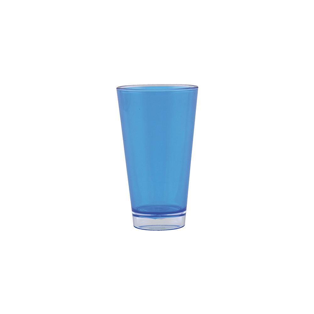 BBQ - Verre teinté double paroi 30cl - Bleu