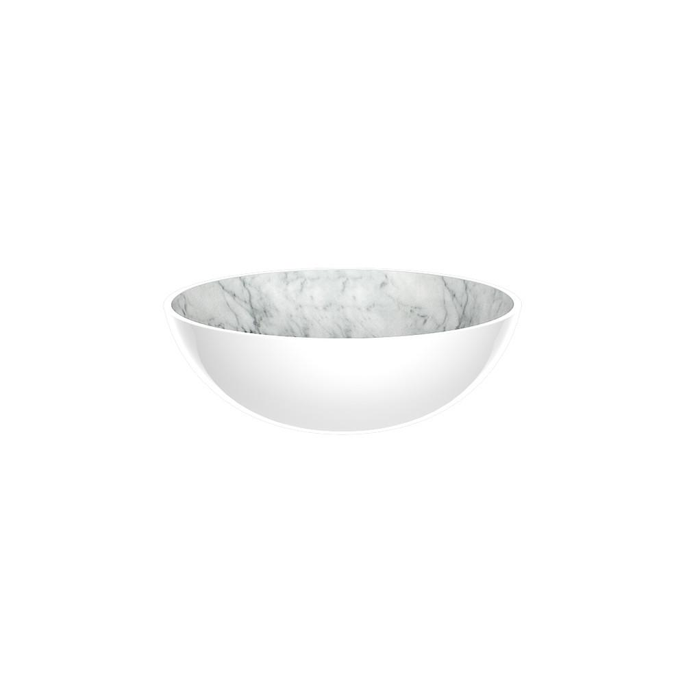 OSMOSE - Bol 16,5 cm - marbre/blanc