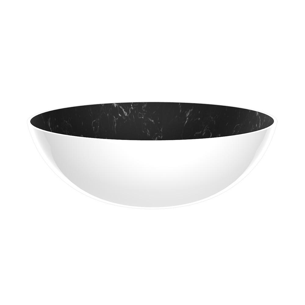 OSMOSE - Saladier 27 cm - marbre noir/blanc