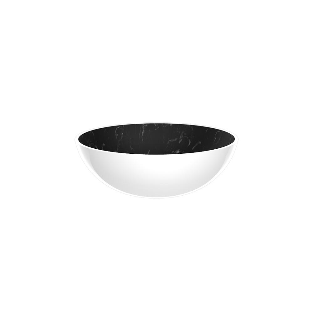 OSMOSE - Bol 16,5 cm - marbre noir/blanc