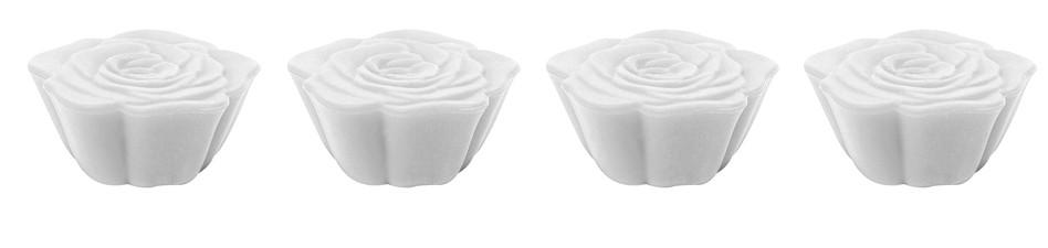 Boite de 4  dessous de plats modulables Jacks Rose - Blanc