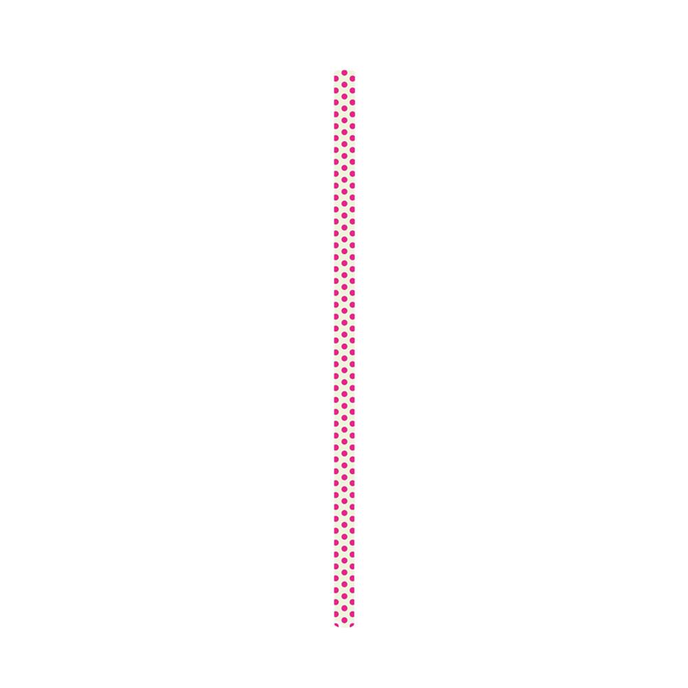 SWIRL - Paille 23 cm- Fuchsia