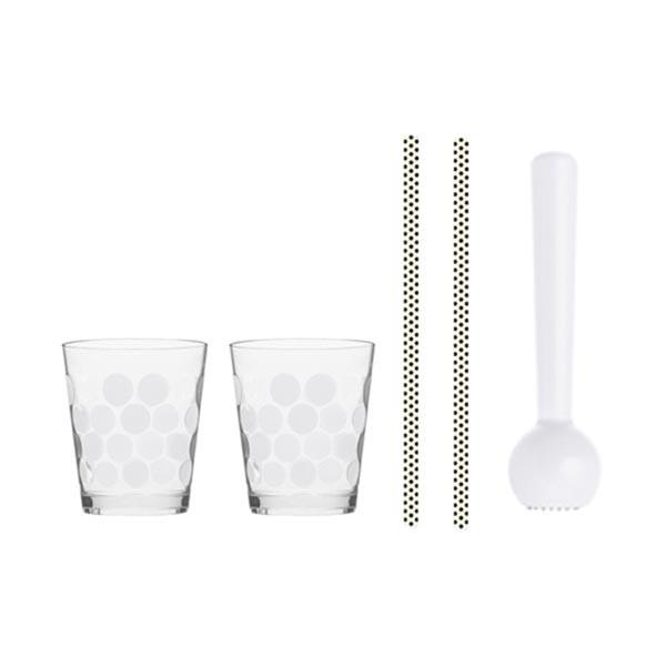 DOT DOT - Set Cocktail 5 pièces 45 cl/18 cm - Blanc