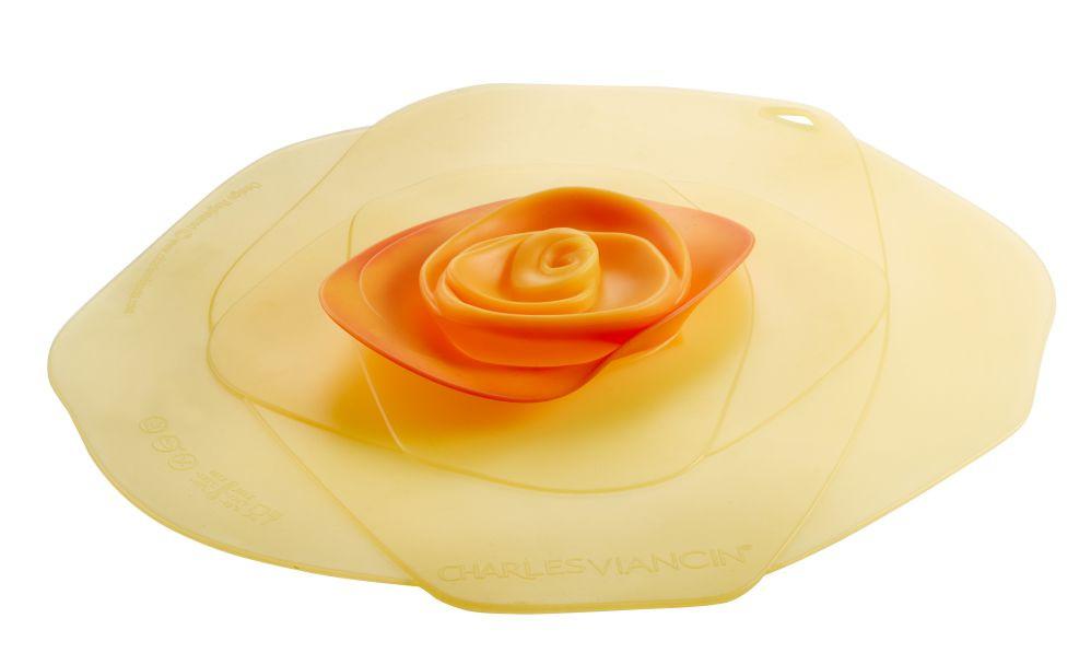 ROSE givrée - Couvercle 15 cm