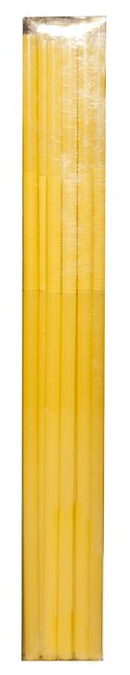 Pailles jetables M - 26 cm - Jaune (30 par boîte)