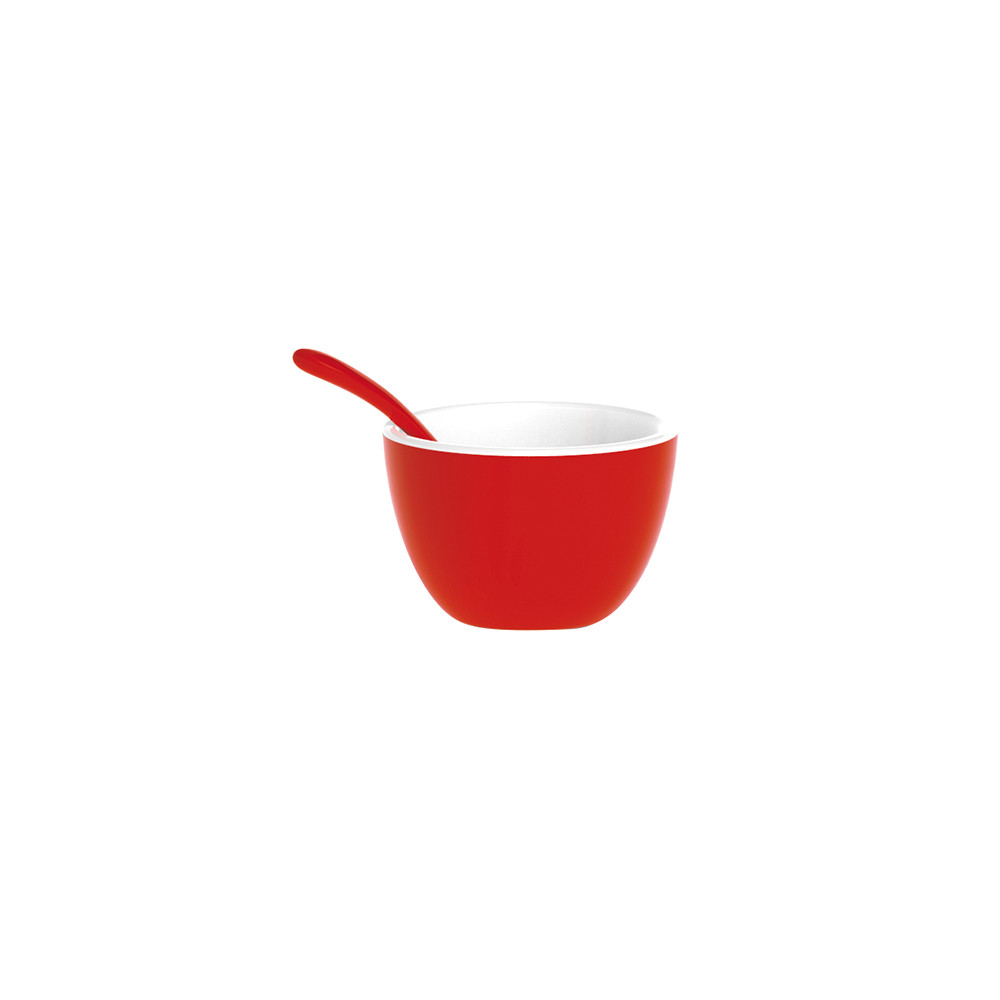 DUO - Set bol & cuillère bicolores - rouge