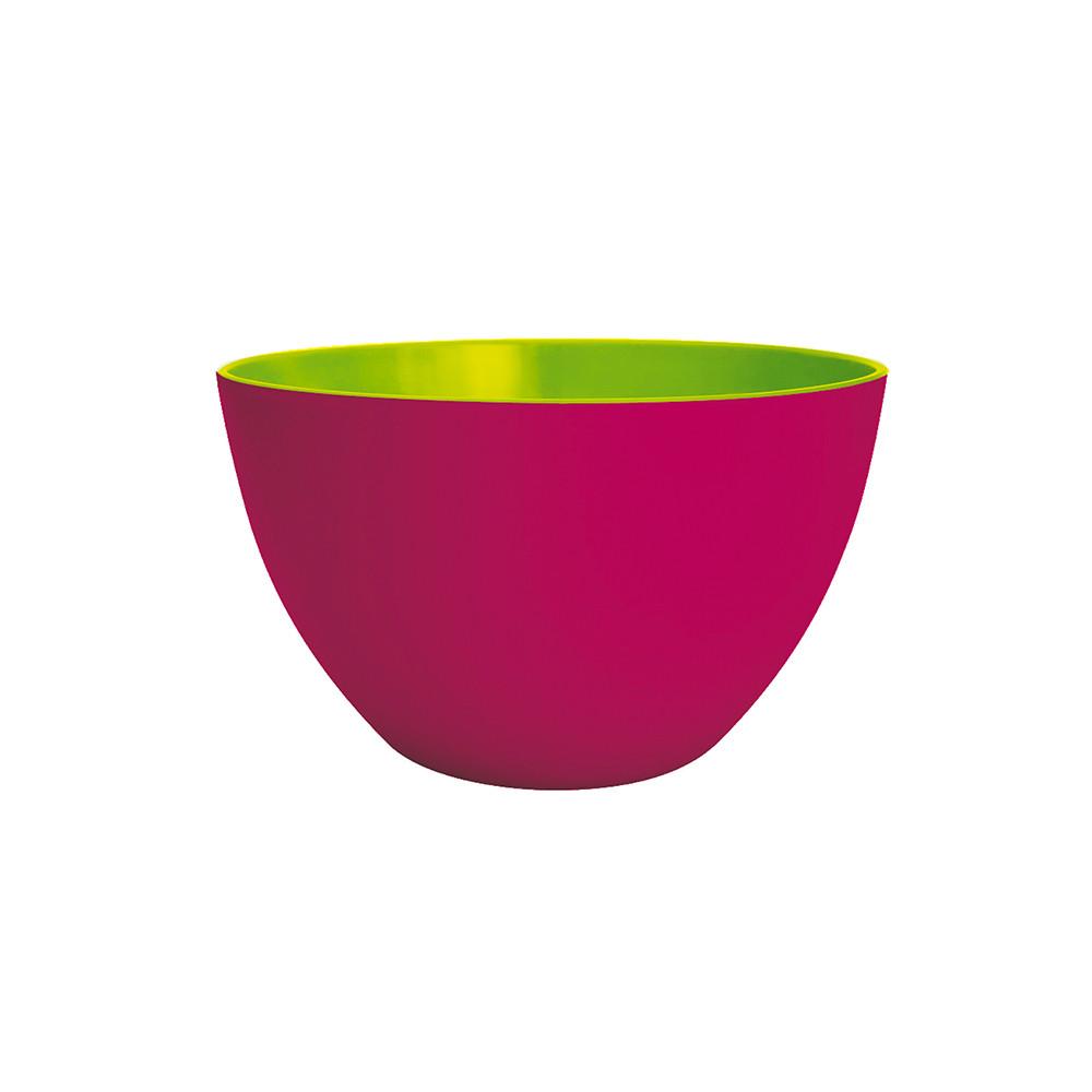 DUO - Saladier bicolore 18 cm - framboise extérieur/vert intérieur