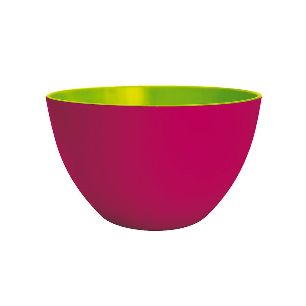 DUO - Saladier bicolore 22 cm - framboise extérieur/vert intérieur