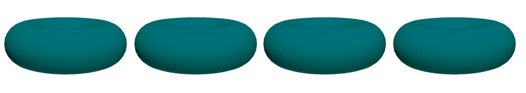 Boite de 4  dessous de plats modulables Jacks Donuts - Bleu Aqua
