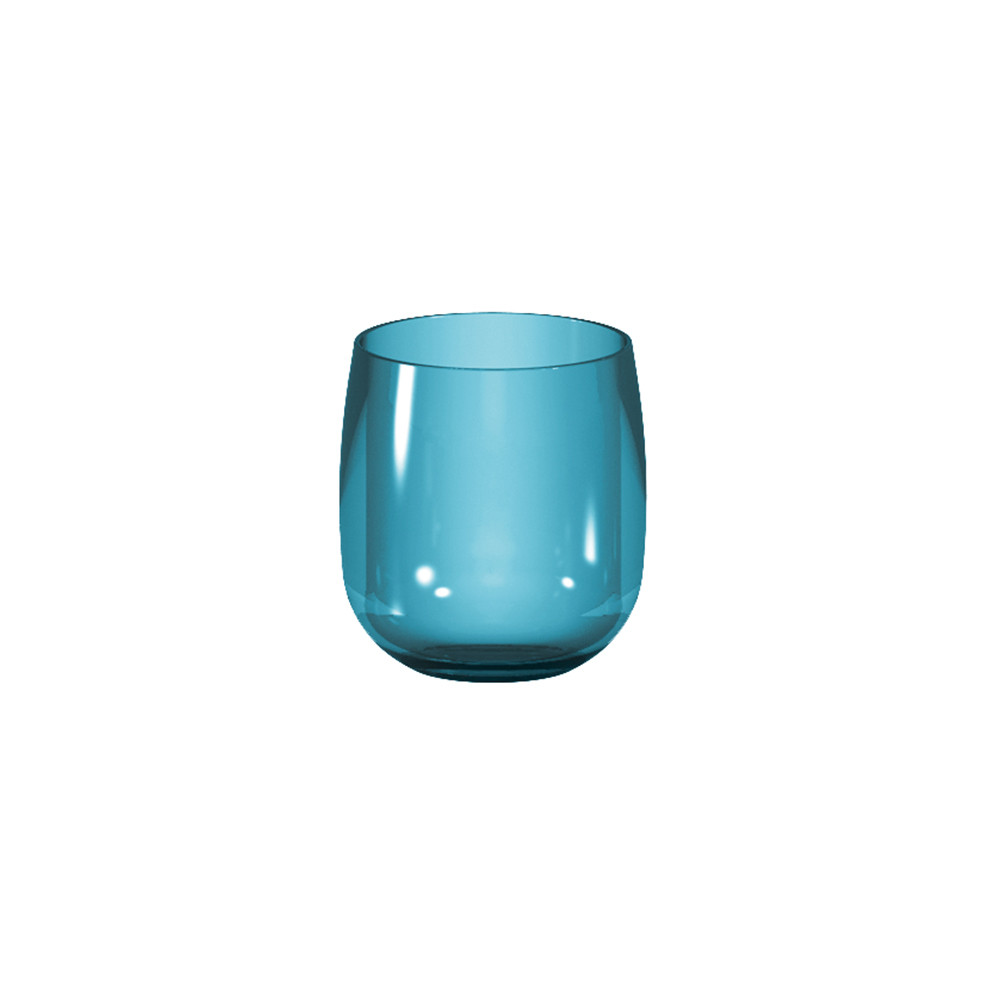 STACKY - Verre ballon empillable 25cl  - Bleu aqua