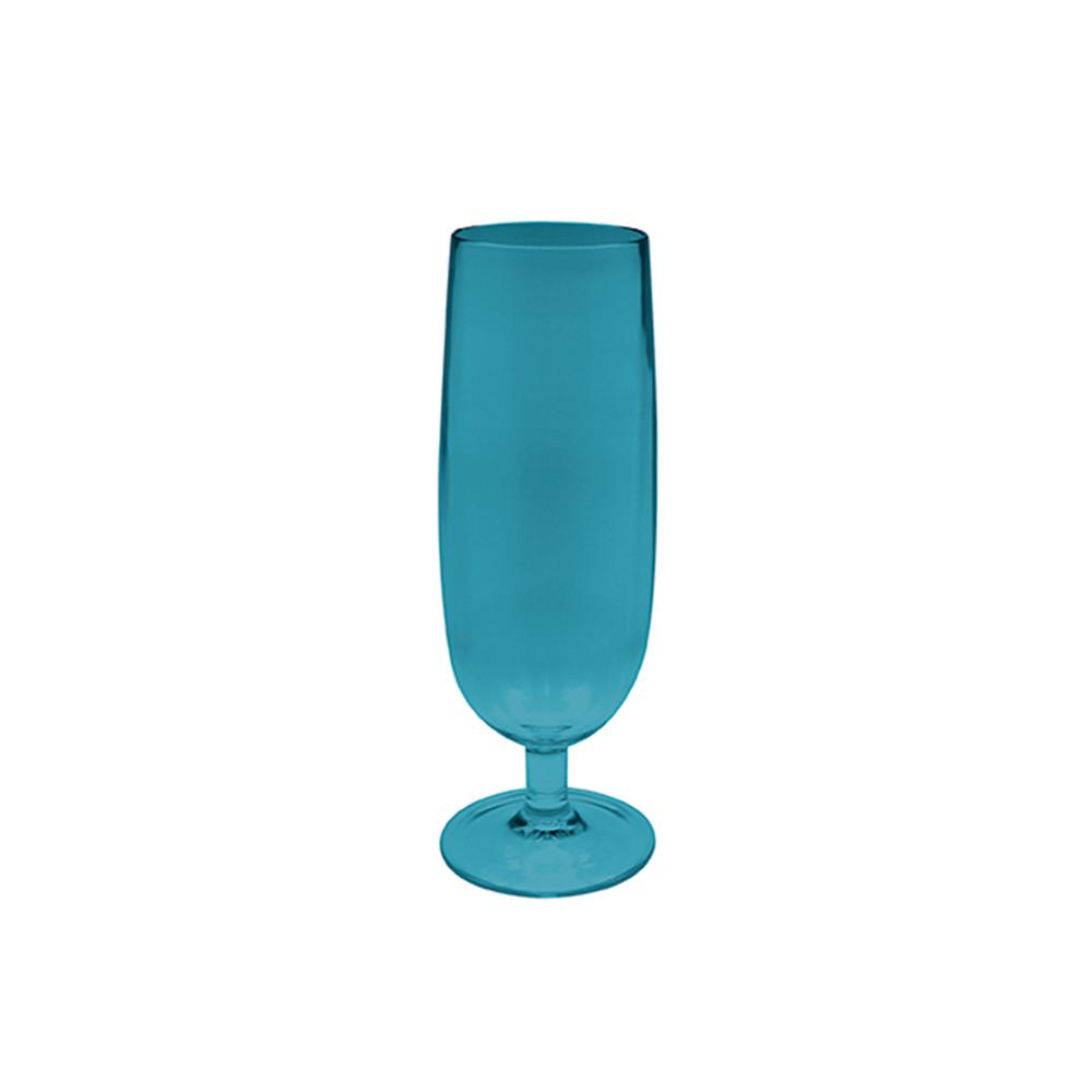 STACKY - Flute à champagne 16 cl - bleu aqua