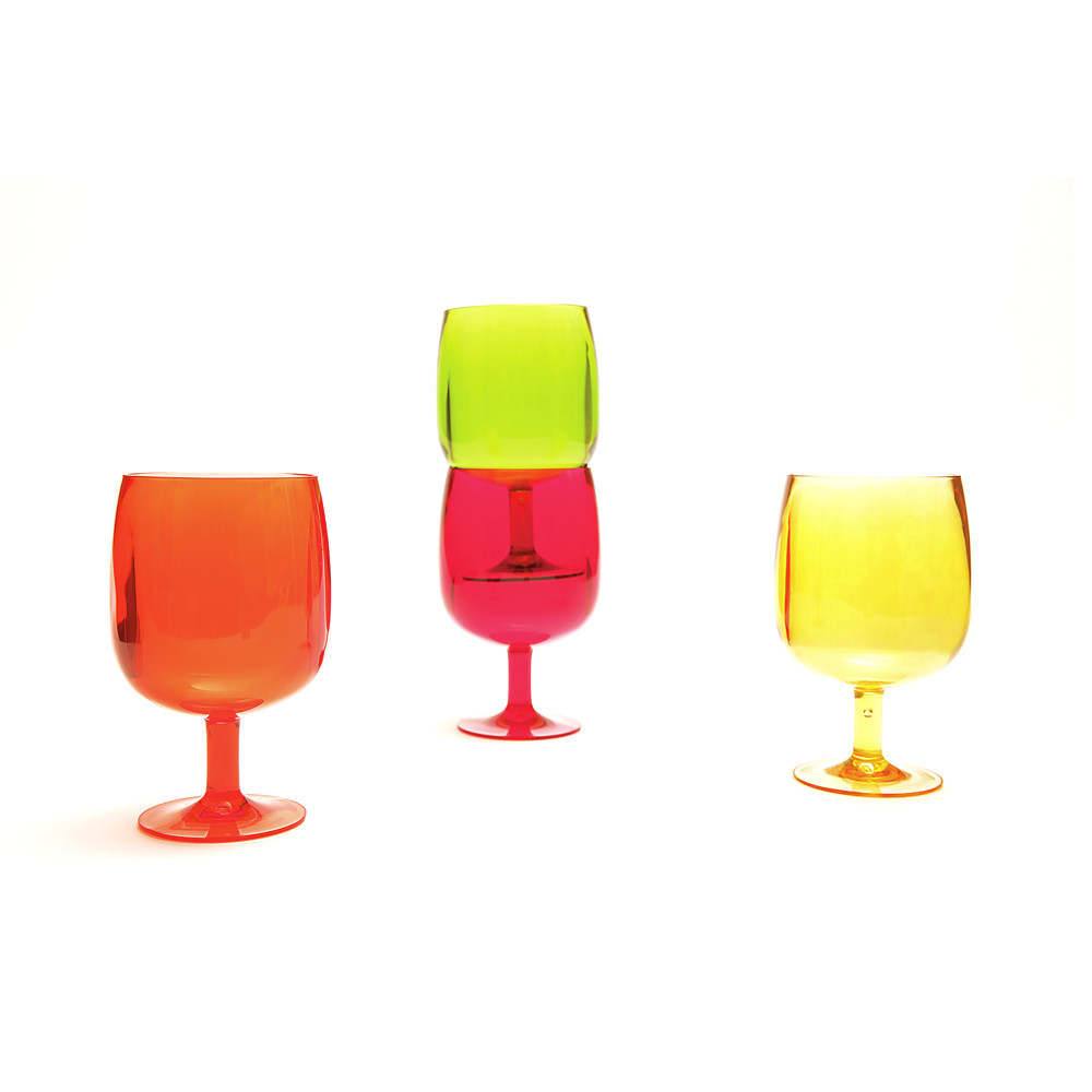 STACKY - Set de 4 verres à pied 25cl - hot pop