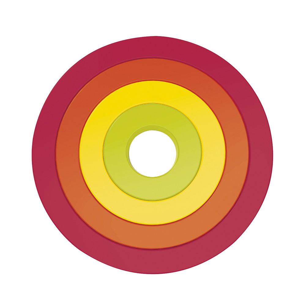 CIRCLE - Sets de 4 dessous de plat circulaires emboîtables