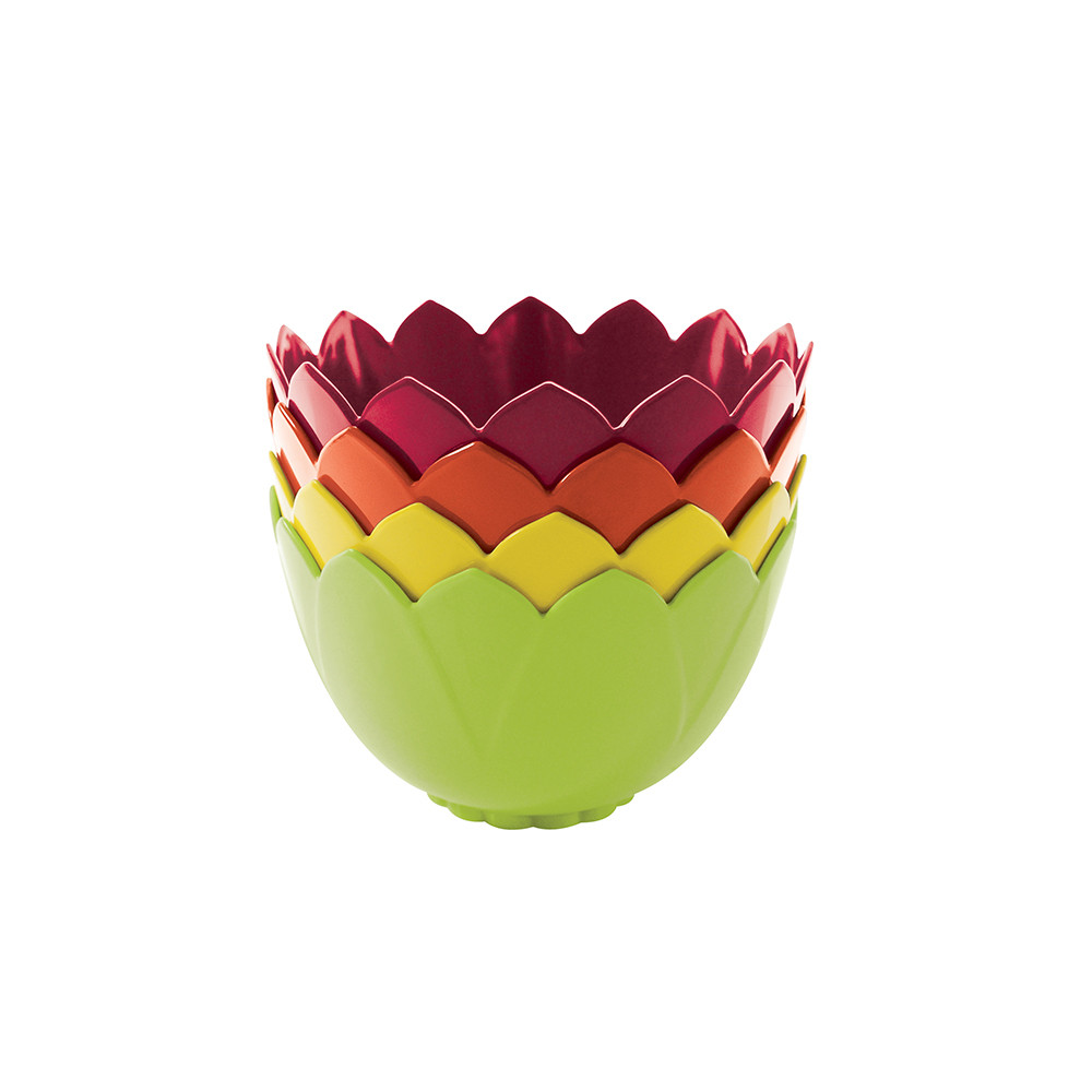 LOTUS - Set de 4 bols emboitables - hot pop
