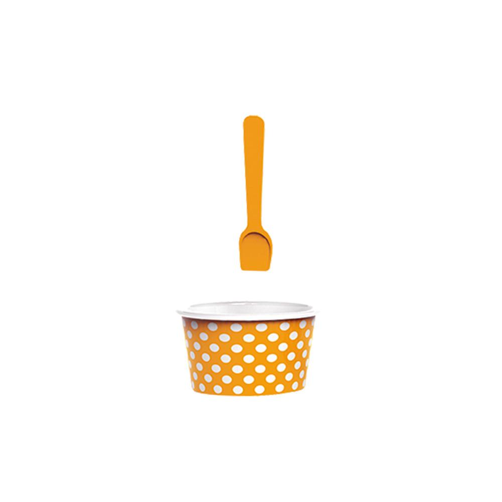 ICE CREAM - Set bol & cuillère à glace - corail/blanc