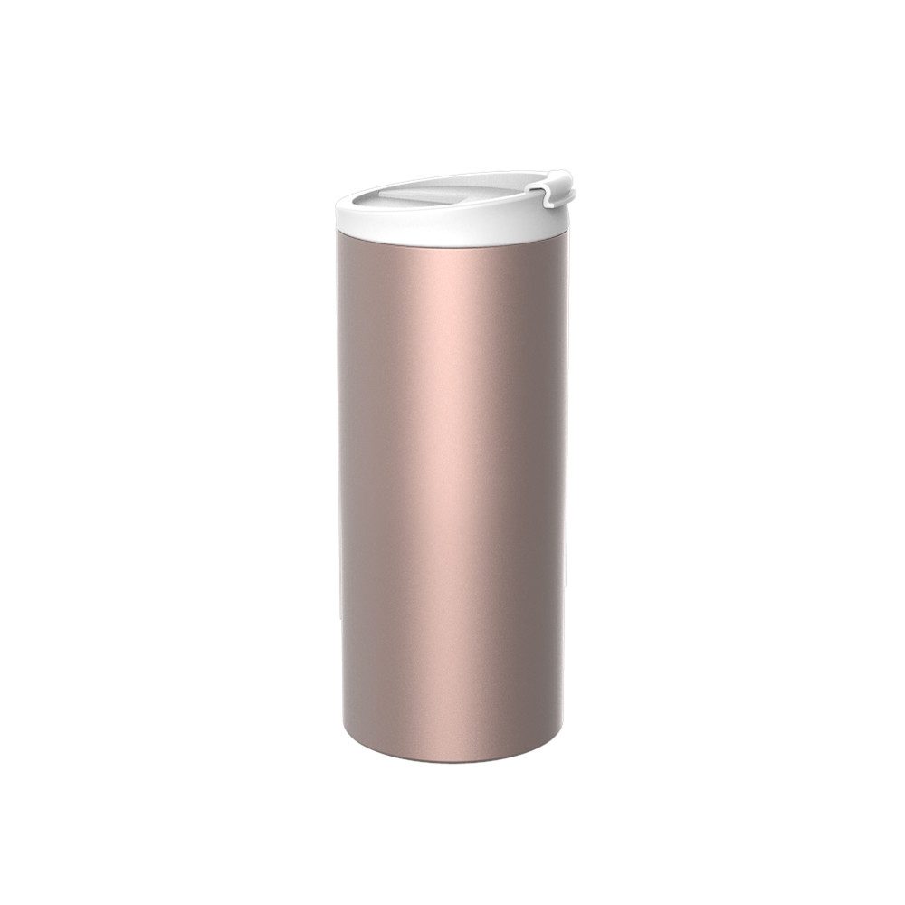 ON-THE-GO - Mug isotherme double paroi en inox 35 cl - rosé
