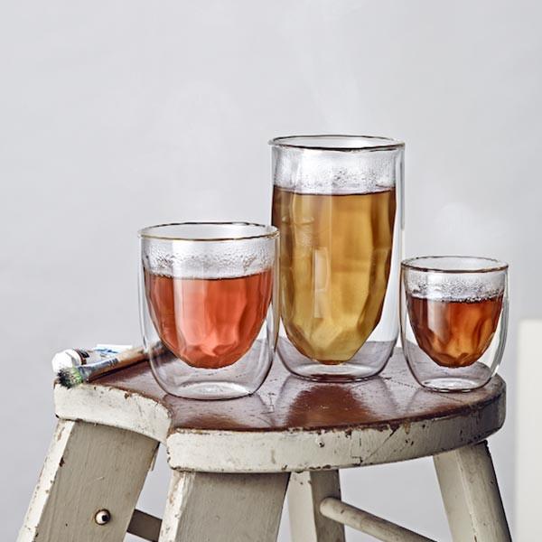 Set de 2 verres ELEMENTS double-paroi - Métal