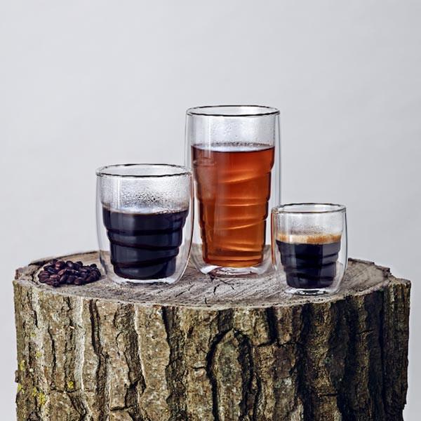 Set de 2 verres ELEMENTS double-paroi - Bois