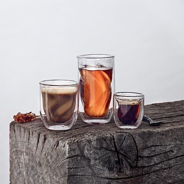 Set de 2 verres ELEMENTS double-paroi - Terre