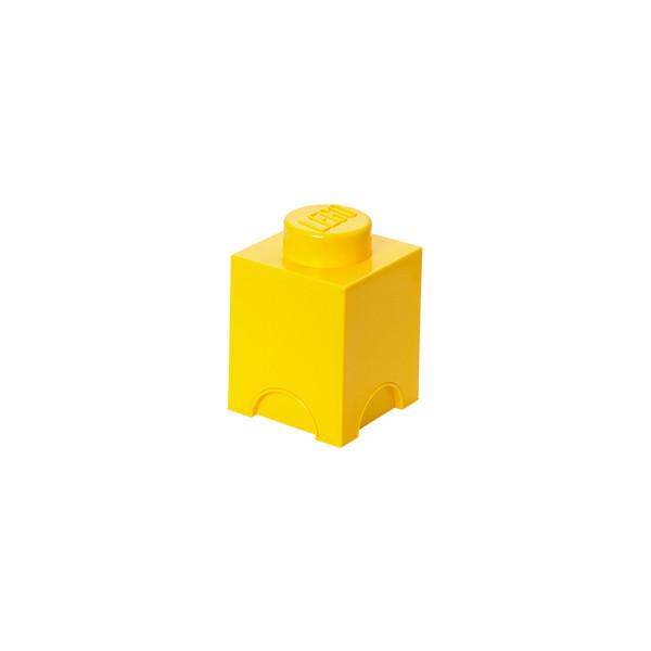 Brique de rangement empilable 1 - Jaune