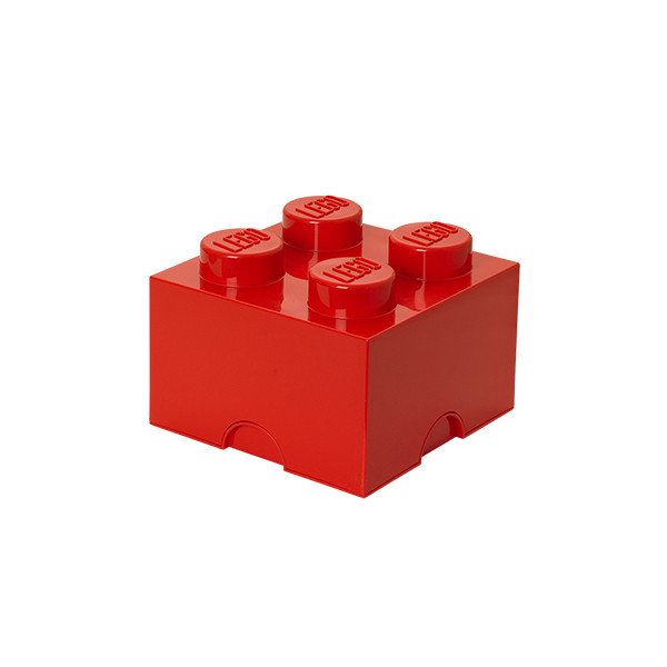 Brique de rangement empilable 4 - Rouge