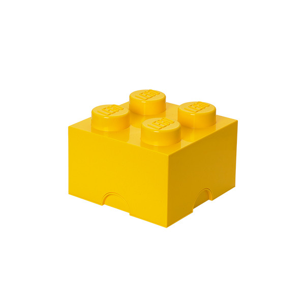 Brique de rangement empilable 4 - Jaune