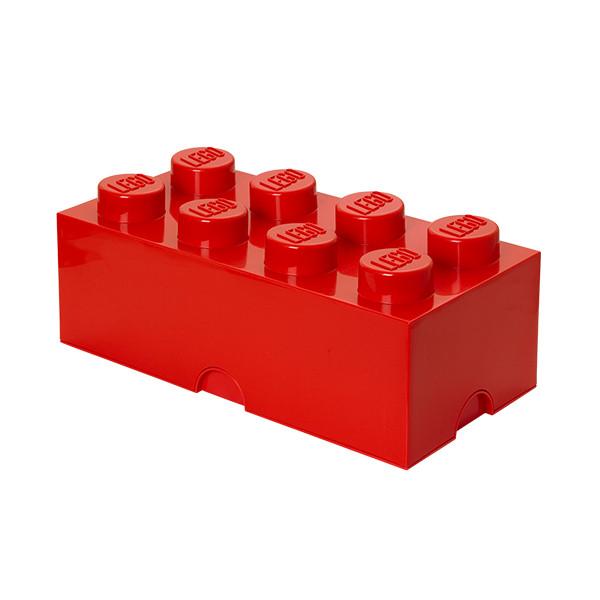 Brique de rangement empilable 8 - Rouge