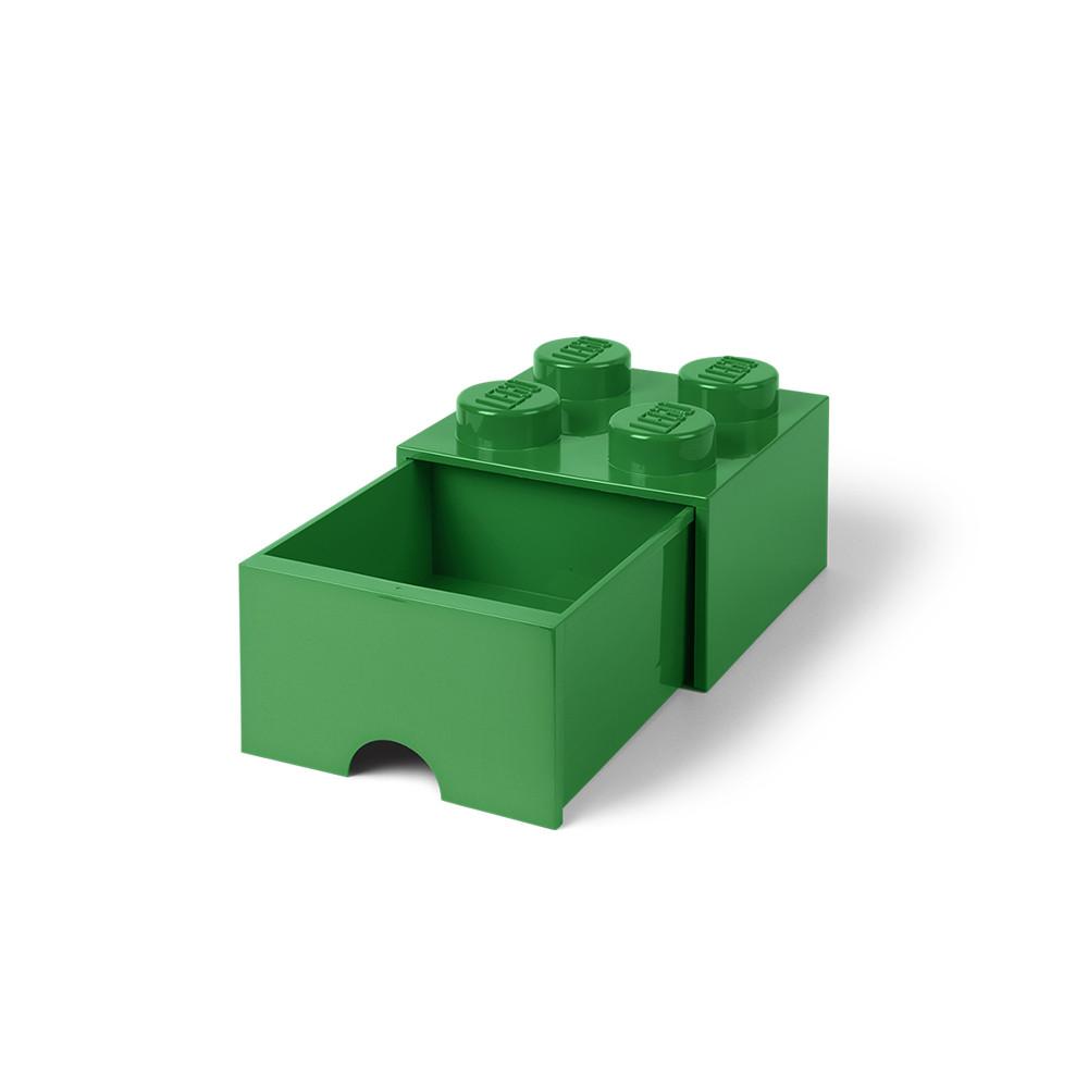 Brique de rangement 4 à tiroir - vert
