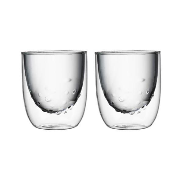 Set de 2 verres ELEMENTS double-paroi - 210ml - Eau