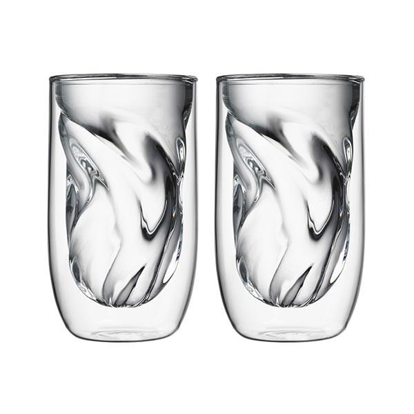 Set de 2 verres ELEMENTS double-paroi - 350ml - Terre