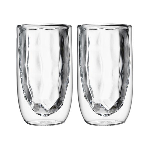 Set de 2 verres ELEMENTS double-paroi - 350 ml - Métal