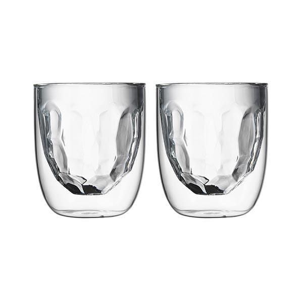 Set de 2 verres ELEMENTS double-paroi - 210 ml - Métal