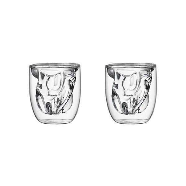 Set de 2 verres ELEMENTS double-paroi - 75ml - Terre