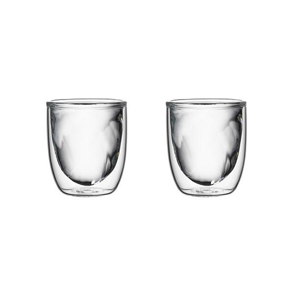 Set de 2 verres ELEMENTS double-paroi - 75ml - Feu