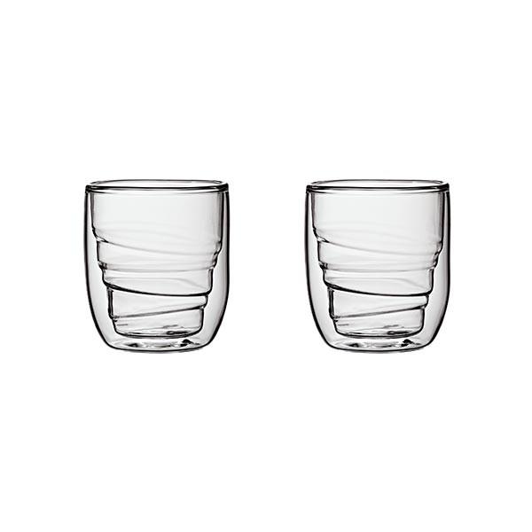 Set de 2 verres ELEMENTS double-paroi - 75ml - Bois
