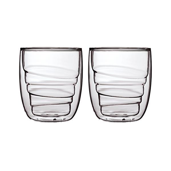 Set de 2 verres ELEMENTS double-paroi - 210ml - Bois