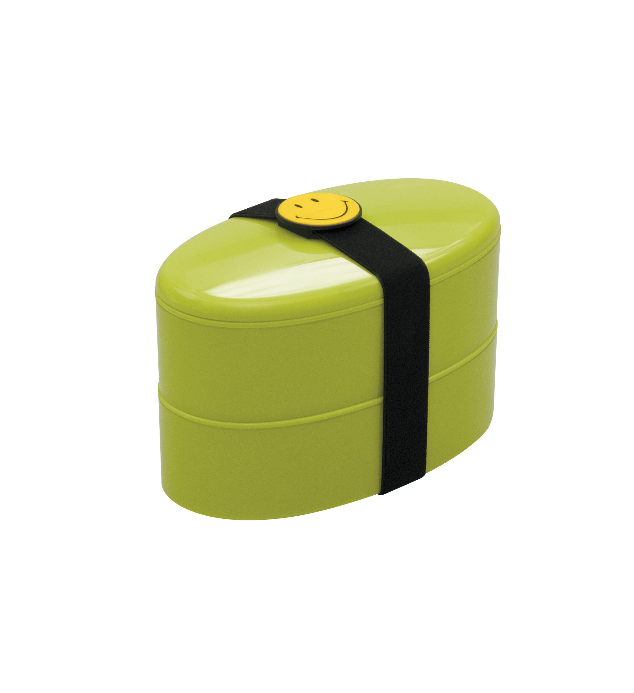 Smiley lunch box avec couverts - 18 x 10 cm - Vert