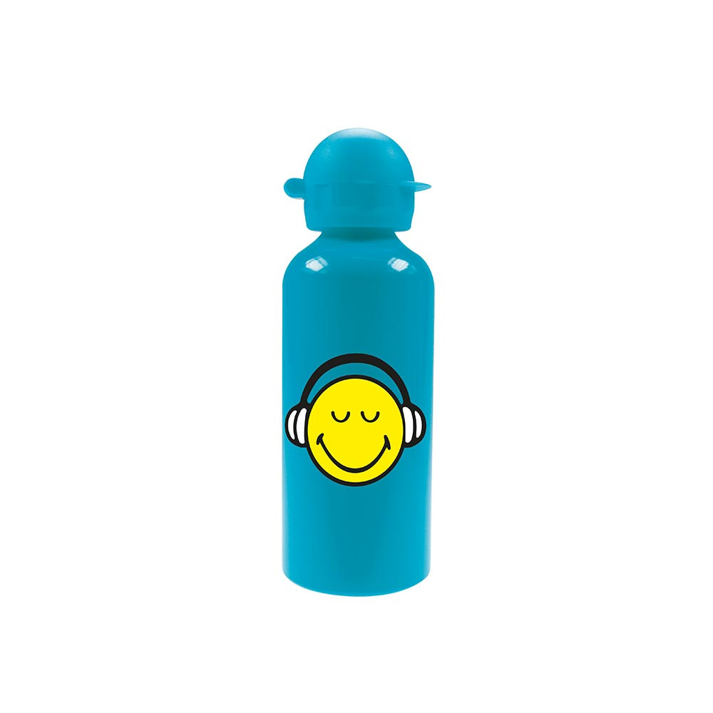 SMILEY - Bouteille aluminium - bleu aqua