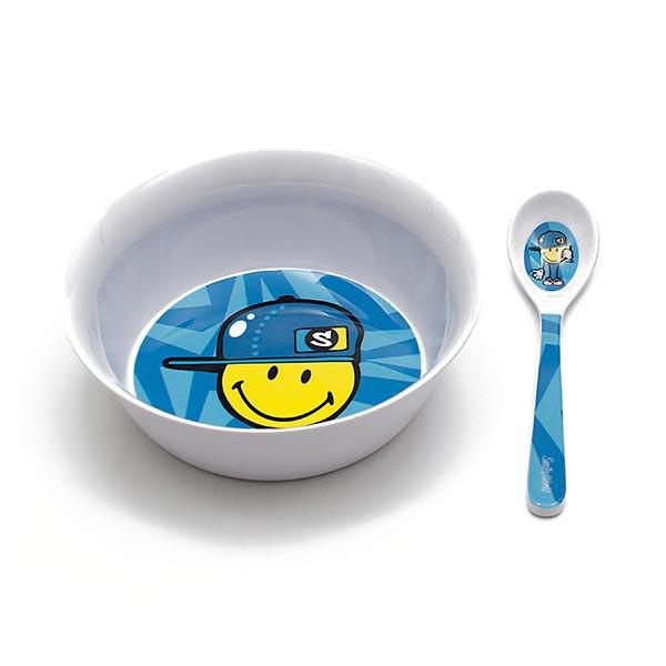 Sets petit-déjeuner : bol & cuillère - SMILEY JUNIOR