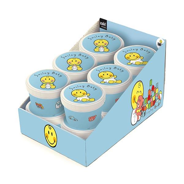 SMILEY BABY - Présentoir de 12 boîtes rondes